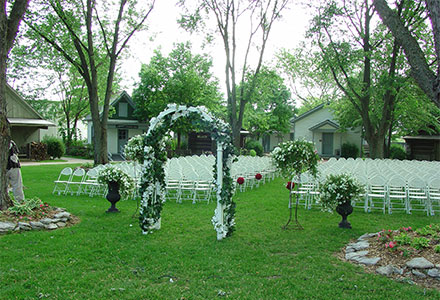 Wedding on the Green in the Historic Village