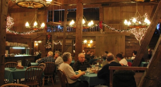 Barn Restaurant Christmas
