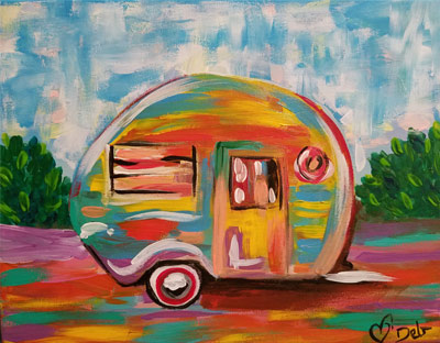 Happy-Camper-painting