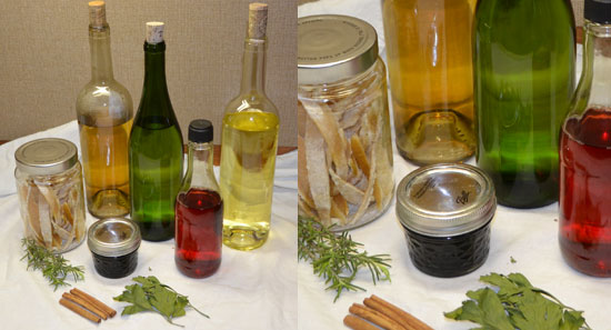 Infused Vinegars and Oils