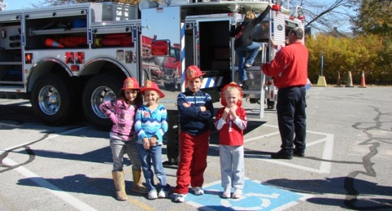 fire trucks community health day
