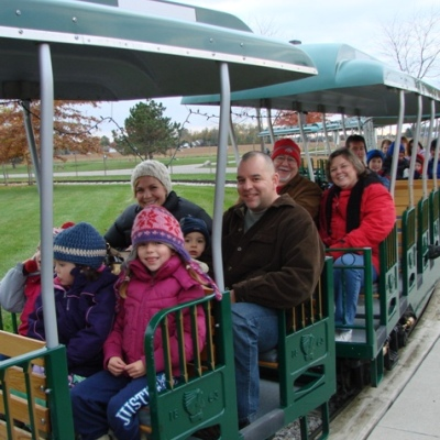 fall family fun night train ride