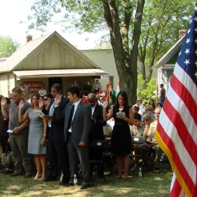 fourth of july event naturalization ceremony