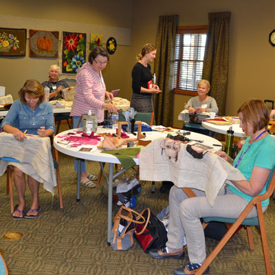 rug hooking retreat group