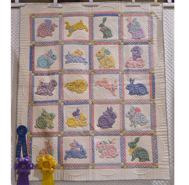 wall quilt applique machine quilted
