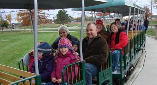 fall family fun night train ride