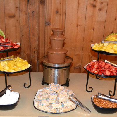 Buffet options at Barn Restaurant in Archbold, OH