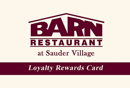Loyalty Card Barn Restaurant