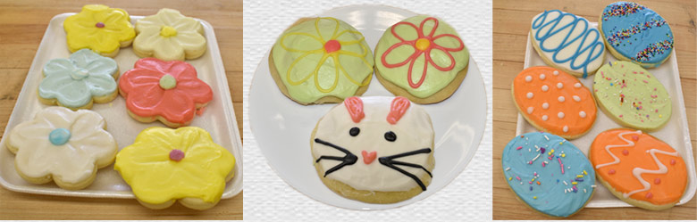 Easter Frosted Cookies