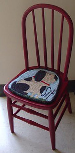 Rug-Hooked-chair-seat-Frank-Bielec