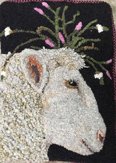 Anne-Bond-ewe-with-flowers