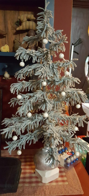 Frosted Christmas Ornaments