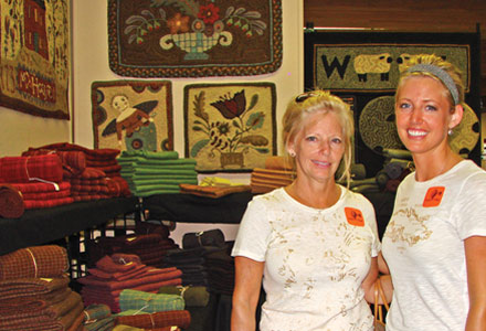 Shopping vendors at Rug Hooking Week