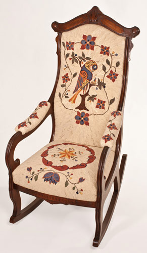 Bird-design-chair-Hooked-Rug-coverings