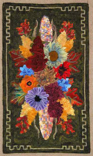 Indian-corn-floral-spray-hooked-rug
