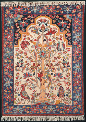 Tapestry-style-hooked-rug