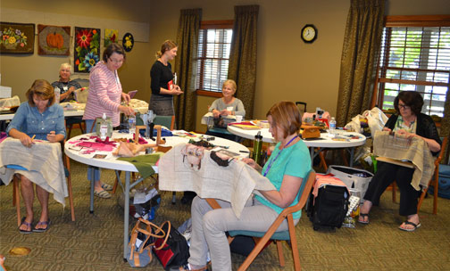 Rug Hooking Artists at Retreat