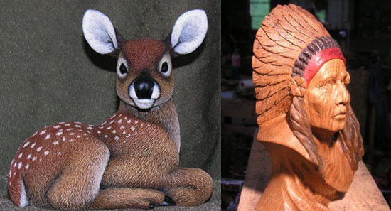 Carved Wood Art by Chris Howard and Leah Goddard