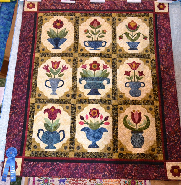 Bed_Quilt_Applique_Machine_Quilted
