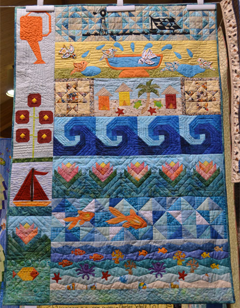 Wall_Quilt_Mixed_Technique_Machine_Quilted
