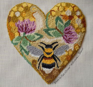 bee-heart-rug-Michelle-Palmer