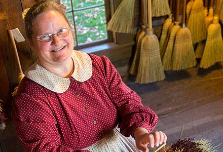 Broom Making Craft and Trade at Sauder Village