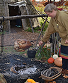 Cooking Native American Village