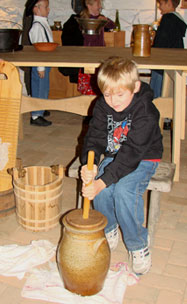butter churning activity