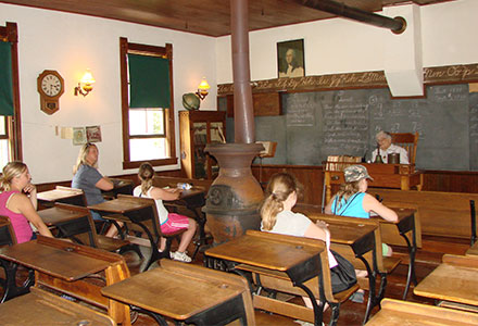 Students Historic Schoolhouse