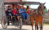 Horse and Buggy ride at Sauder Village
