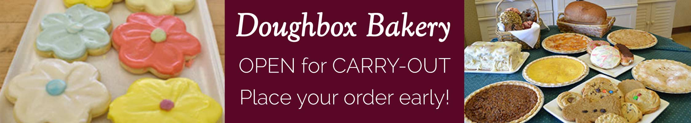 Doughbox Bakery Open for Carry-out - Cookies and Baked Goods