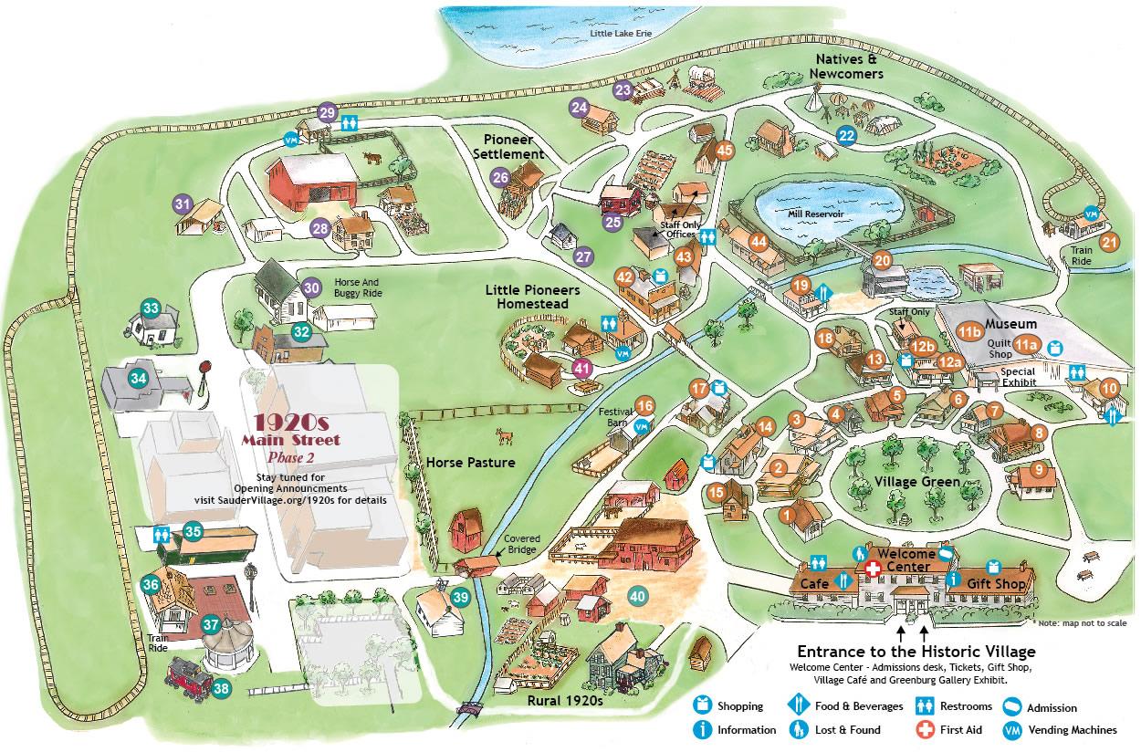 Sauder Village Map Family Friendly Activities Sauder