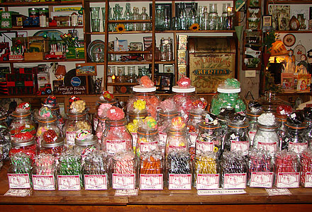 Candy Counter Lauber's General Store