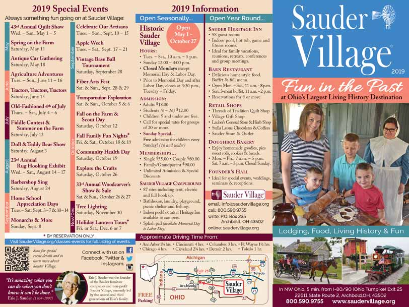 Sauder-Village-Brochure-outside-2019